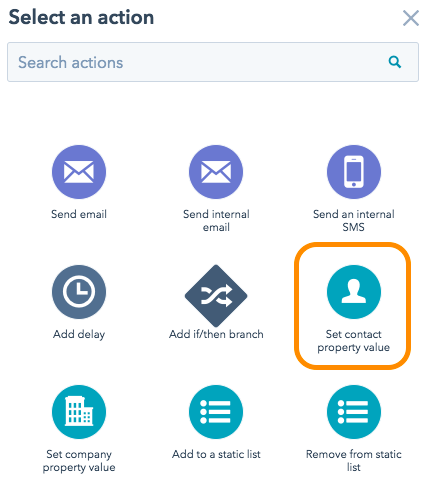 HubSpot workflows for internal use and organization